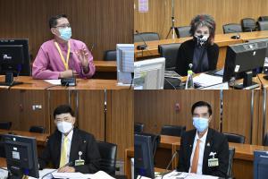 ร่วมการประชุมคณะกรรมการประชาสัมพันธ์ วุฒิสภา ครั้งที่ 4/2564